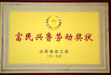2019年富民兴鲁劳动奖状
